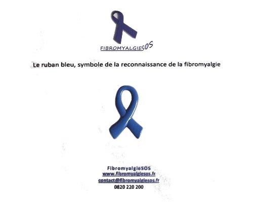pins bleu clair soutien fibromyalgie