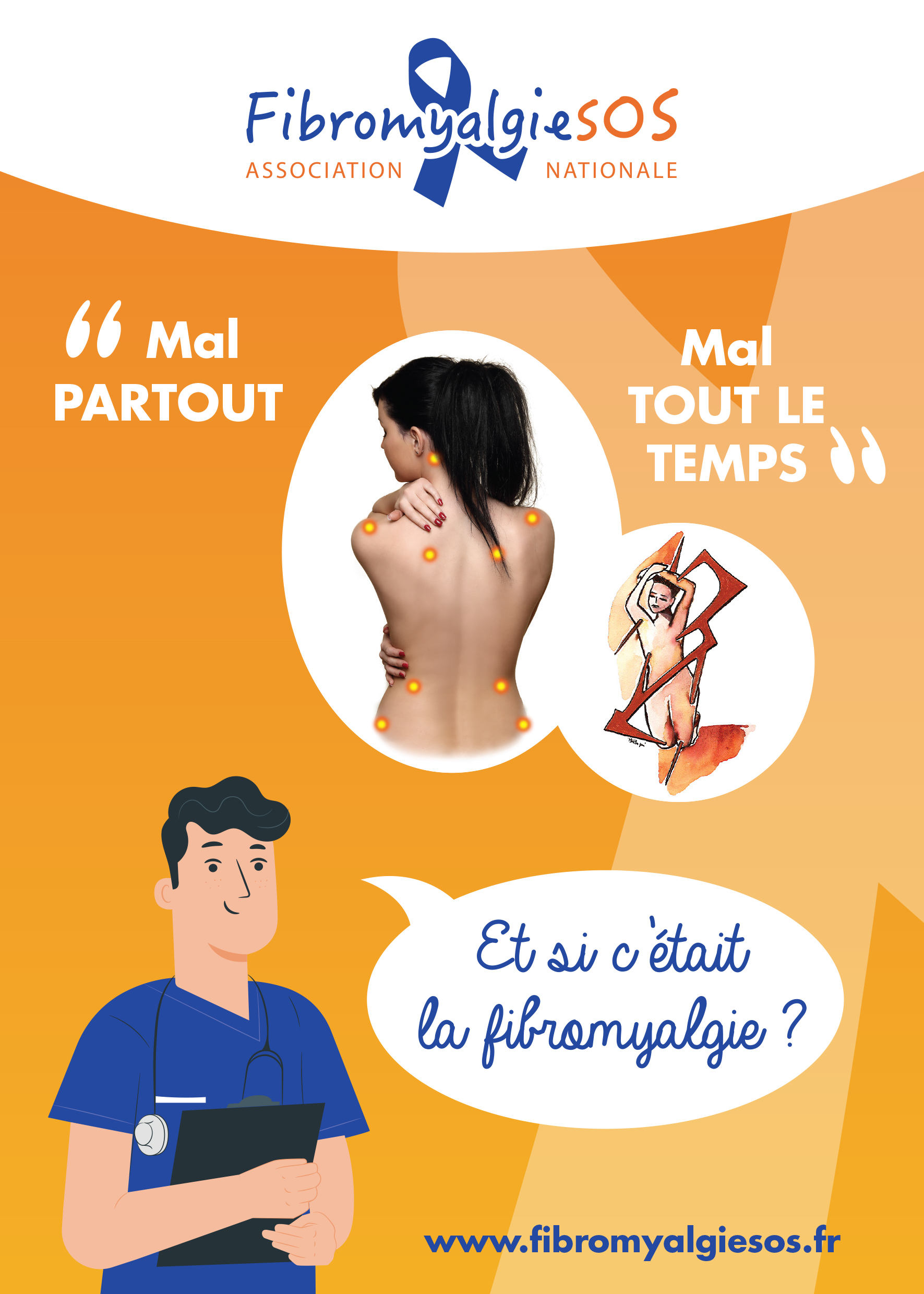 Plaquette de l'association Fibromyalgie SOS